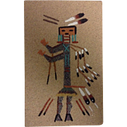 Navajo Sand Painting Signed Native American Art Original Small Lucy Curtis