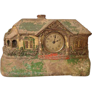 Vintage Deluxe Clock New York Lux House Cottage Bungalow Mantle Figural