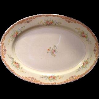 """Harco China Floral Serving Platter 14"""" Vintage Porcelain"""