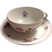 Eschenbach German Germany US Zone Roswitha Tea Cup Saucer China