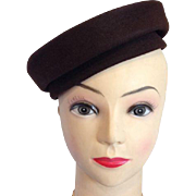 Ladies Hat Wool Felt Beret Tam Stetson J J Haggarty Fifth Avenue Brown