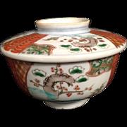 Vintage Imari Lidded Bowl Bowls Rice Soup