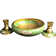 Art Nouveau Osbourne Bowl and Candlesticks
