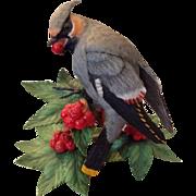 Lenox Bohemian Waxwing Figurine Fine Porcelain Garden Bird Statue Ornithology
