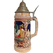 Vintage Gerz Lidded Stein Frohbeim Bier Days Lieben Wir Germany German Beer
