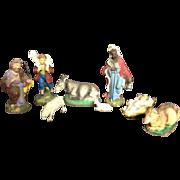 Vintage Italian Nativity Set Crèche Baby Jesus Christmas Chalkware