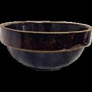 Genuine Dunlap Stoneware Pottery Whipped Cream Bowl Whip Crockery