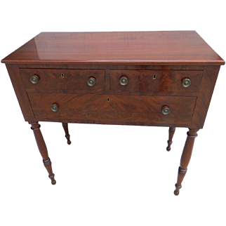 A Federal Mahogany Server or Console Table , Phila. 19th Century