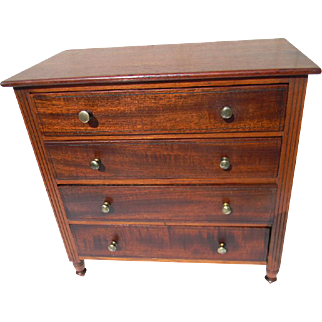 19th Century American Miniature Chest of Drawers