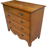 19th Century Tiger Maple Chest