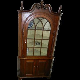 Early 19th Century 2 Piece Corner Cupboard