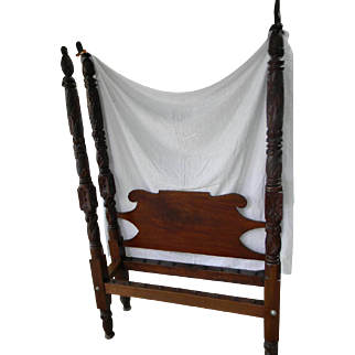 19th Century Carved Bed