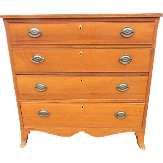 19th Century American Inlaid Chest of Drawers