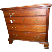 Chippendale Cherry Fluted Column Chest 18th century