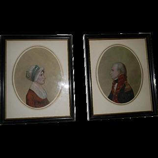 Pair 19th Century Delaware Portraits