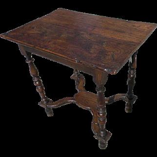 17th Century Elm Wood Tavern Table