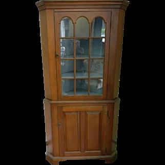 18th Century Cherry Corner Cupboard