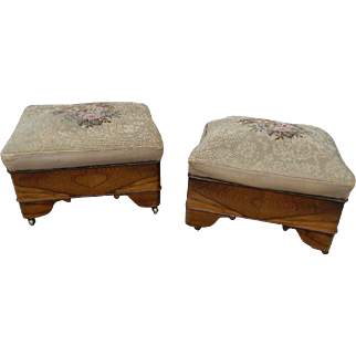 Matching Pair 19th Century Rosewood Stools