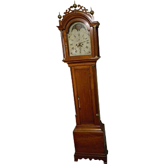 A Circa 1800 Cherry Grandfather Clock