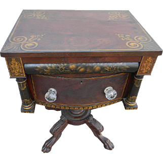 19th Century Stenciled Side Table