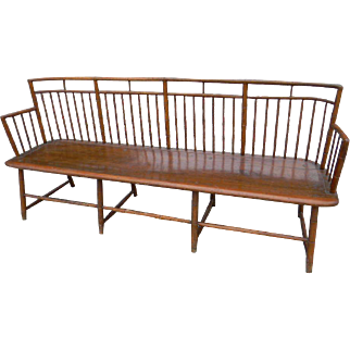 19th Century American Windsor Settee