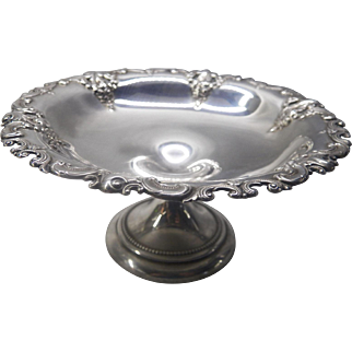 Wallace Grand Baroque sterling silver compote