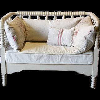 Antique Bedframe Setee