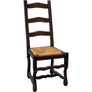 Set of 8 French Antique Dining Chairs