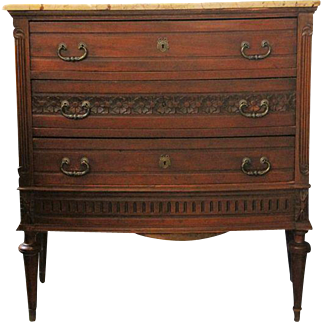 French Antique Commode with Marble Top