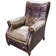 Vintage French Leather Chair