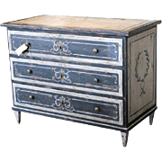 French Antique Painted Chest of Drawers