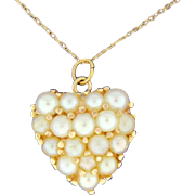 Pearl Heart pendant with chain