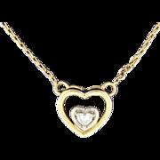 Heart Shape Solitaire Diamond Pendant