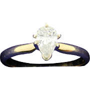 1/2 Carat Pear Shape Solitaire Diamond Ring