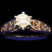 Diamond Filigree Style 14k Ring