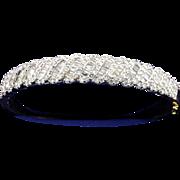 5 Carat Ladies 14k Yellow Gold with White Gold Diamond Settings Bracelet