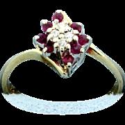 Diamond & Ruby Fashion 14K Gold Ring