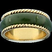 Jade 14K Gold Band Ring