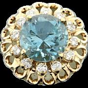 5 ct. Aquamarine & Diamond Ring