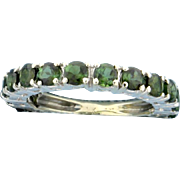 1.3ct Total Weight Chrome Diopside Ring