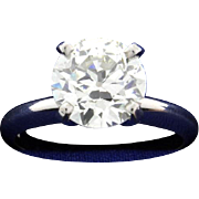 GIA Certified 2.5 ct Diamond Solitaire Ring in Platinum Setting