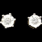 1/4ct Total Weight Diamond Earrings