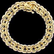 Heavy Link 14k Yellow Gold Bracelet