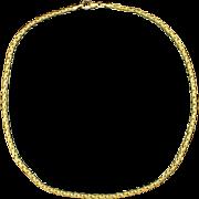 16 1/2 Inch 18K Foxtail Neck Chain