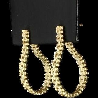 Flexible Hoop Earrings in 14K Yellow Gold