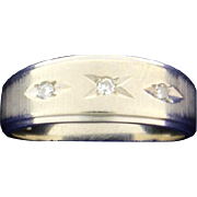 Diamond Band Ring 14k White Gold