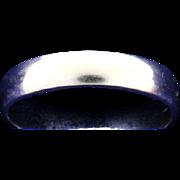 14K White Gold Wedding Band Ring