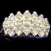 1ct TW Champagne Diamond Ring 14k Yellow Gold