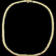 18 Inch Herringbone Necklace 14k Yellow Gold