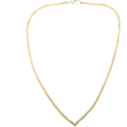 14K Italian Made Yellow, Rose & White Gold Necklace